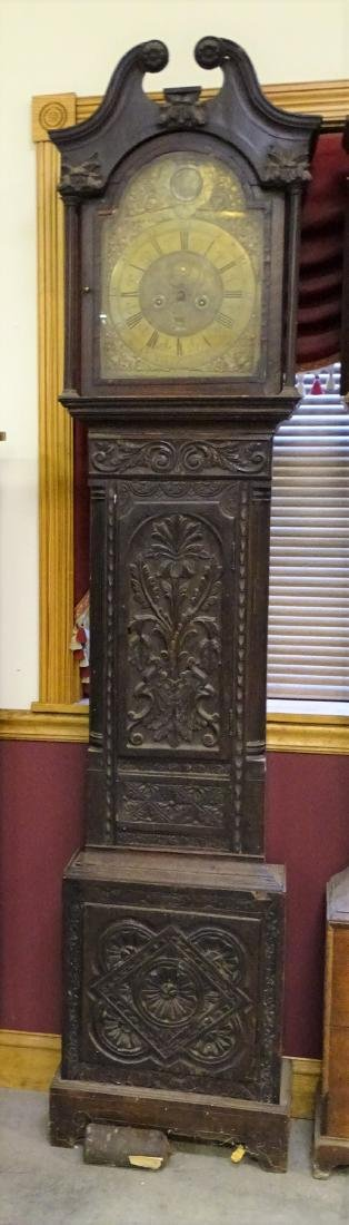 Extremely Early Oak Grandfather Clock