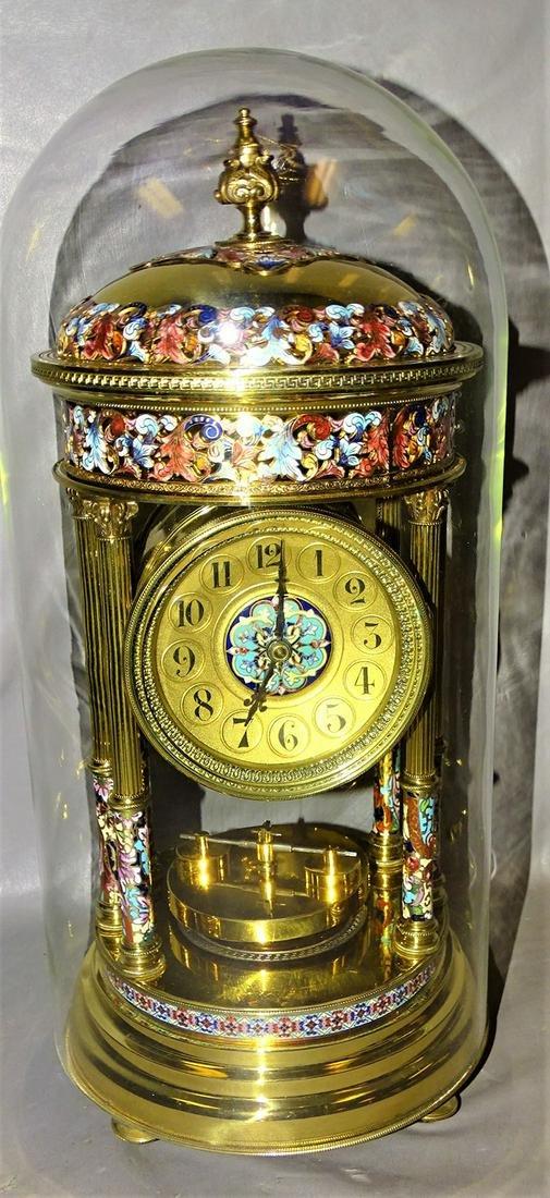 Spectacular Cloisonné & Brass Clock