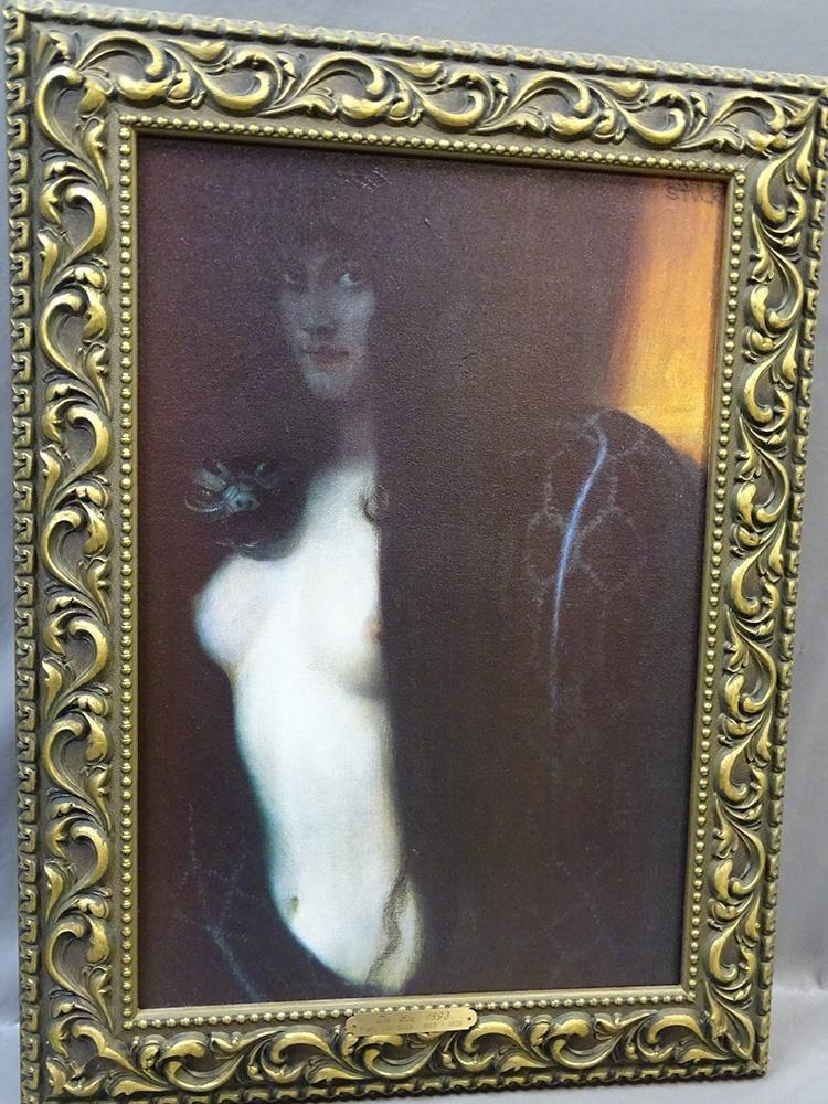 """Painting """"The Sin"""" by Franz Von Stuck"""
