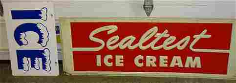 Vintage Sealtest and Ice Sign
