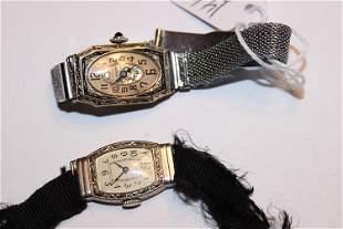 (2) Gold Ladies Wrist Watches