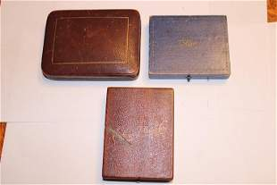 Group of (3) Vintage Pocket Watch Boxes for Howard,