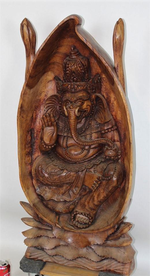 """42"""" Fancy Oriental Carving"""
