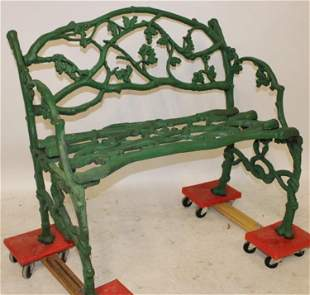 "Sweet 35"" Wide Antique Twigg Bench"