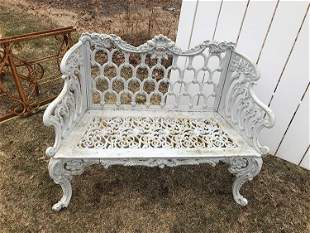 Antique Whitehouse Garden Bench