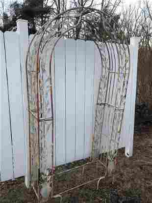 Wrought Iron Garden Arbor