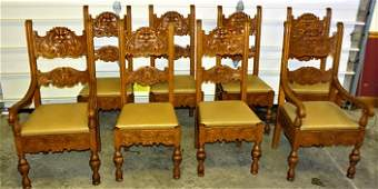 Fabulous Set of 8 oak Horner Chairs with Northwind