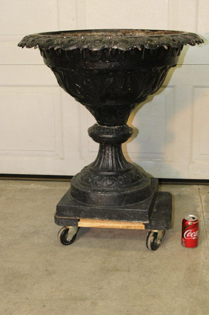 "Great 28"" Victorian Cast Iron Urn"