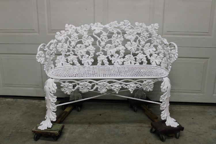 Antique Cast Iron Grapevine Bench