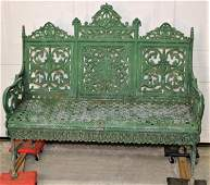Fabulous Signed Timmes Cast Iron Bench