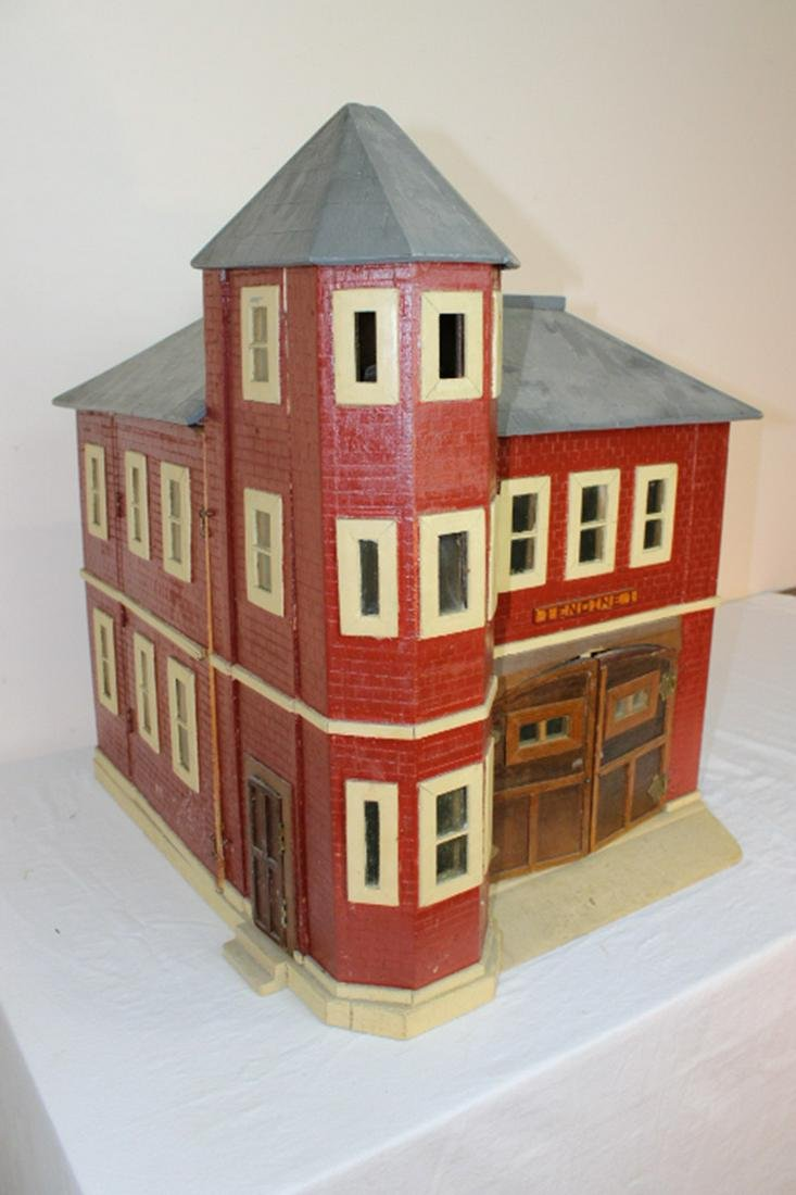 Antique Fire Station Doll House