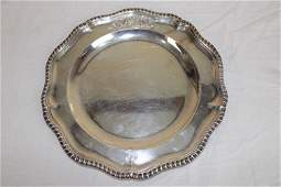 "Rare 9 1/2"" George III Silver Plate Mid 1700's"