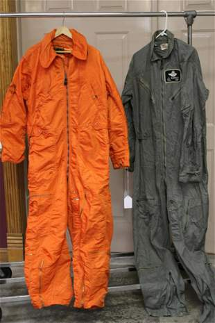 2 Flight Suits Belonging to John Bartholf