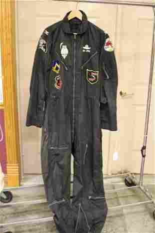 Well Decorated Flight Suit Owned by John Bartholf