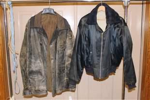 Well Worn Leather Flight Jacket