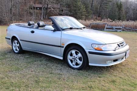 Classic 2000 Saab Turbo 93 Sport Convertible in
