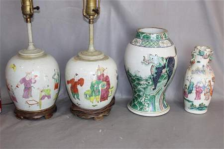 4 Antique Oriental Porcelain Pieces