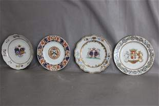 (4) Great Oriental 18th C. Plates and Bowls with Crests