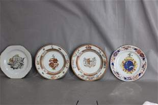 (4) Great Oriental Plates and Bowls (1) Marked Kangxi