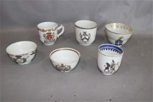 Early 18th and 19th C. Cups with Coat of Arms