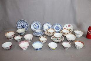 Over 25 Pieces of Oriental Cups and Saucers 18th and
