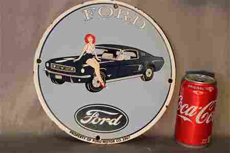 Rare 1967 Ford Mustang Porcelain Sign