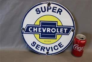 Vintage Chevy Porcelain Ad Sign