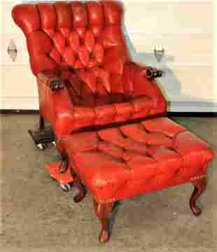 Chesterfield Style Leather Sleepy Hallow Chair