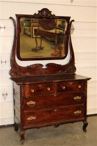 Fancy Oak Dresser