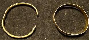 (2) 14k Gold Bracelets