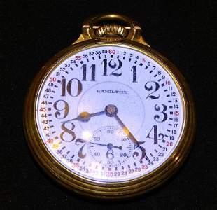 Hamilton Gold Filled 21 Jeweled Pocket Watch