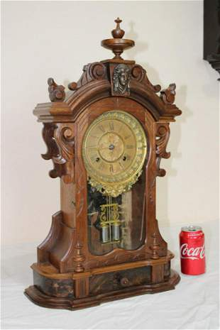 Great Walnut Ansonia Monarch Mantel Clock