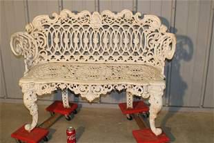 Cast Iron Garden Bench with Maiden Head