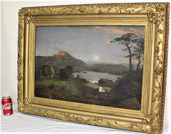 Well Listed Large Oil on Canvas Signed J. F. Cropsey