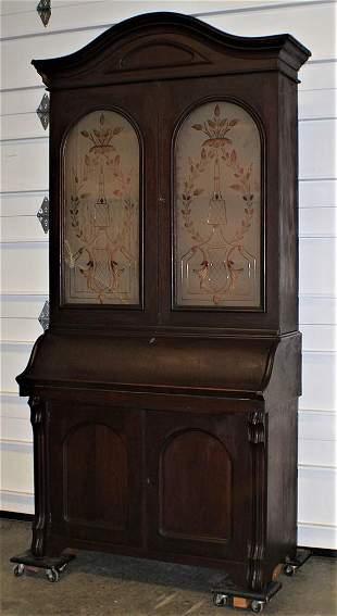Early Victorian Arch Top Secretary Desk