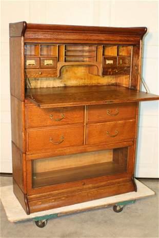 Great Oak Sectional Bookcase/Desk