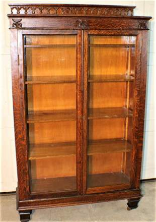 Great Quarter Sawn Oak 2 Door Bookcase