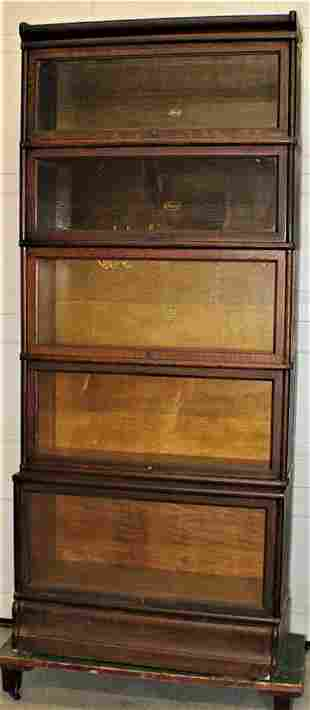 Large 5 Section Oak Macy's Stacking Bookcase with