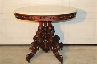 "Huge 37"" Brooks Marble Top Table"