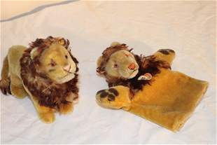 Steiff Lion and Puppet