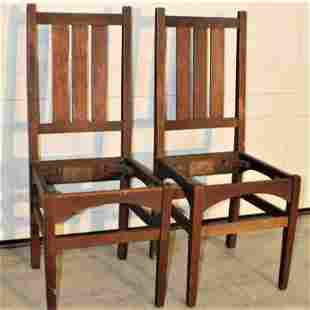 Pair of Signed Gustav Stickley Chairs #353