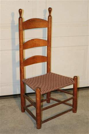 Shaker Chair with Tiger Maple Posts