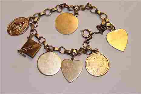 Group of 7 Gold Charms (6) 14k, (1) 10k