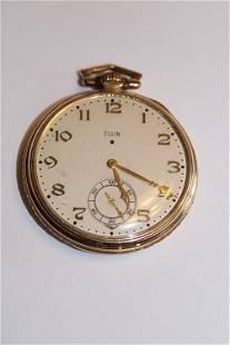 10k Gold 15 Jewel Elgin Pocket Watch (Working)