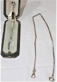 Fabulous Diamond and Gemstone Stick Pin in Platinum