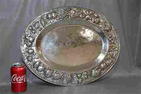 Fabulous Sterling Silver 6 lb. Tray with Fruit All