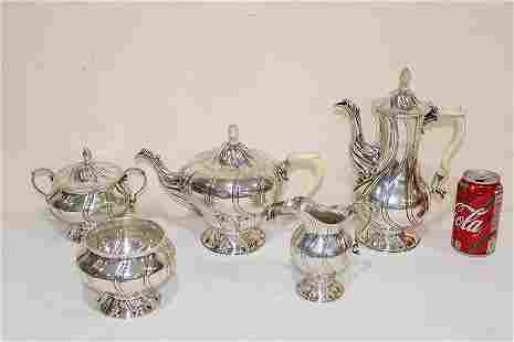 5 Piece Norman of London, 5 Piece Sterling Tea and