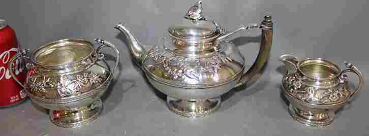 Fabulous Sterling Silver 3 Piece Tea Set with