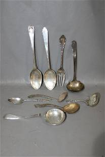 9 Sterling Pieces of Flatware