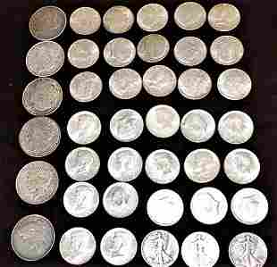 $23.50 of Silver Coins Incl. 6 Silver Dollars and 35